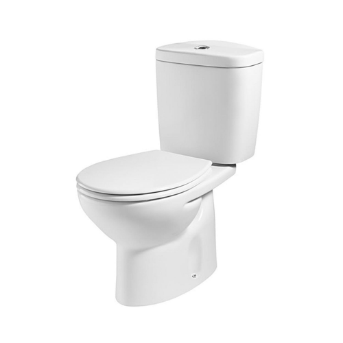 Roca Laura Close Coupled Toilet With Dual Flush Cistern - Standard Seat - White